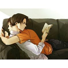Shingeki no Kyojin | Levi x Eren ~ for some reason I really really like this image.