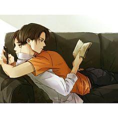 Shingeki no Kyojin | Levi x Eren ~ for some reason I really really like this…
