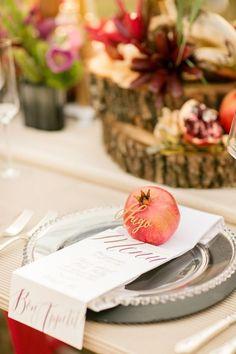 Pomegranate farm wedding inspiration