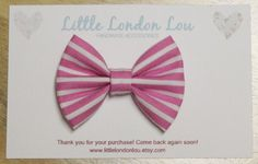 Baby, Toddler, Girl Fabric Bow Clip or Headband- Pink