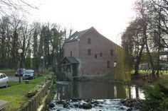 Moulin à eau à Marly. Water mill at Marly, near Valenciennes.