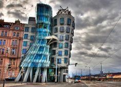 Extravagante Architektur - Dancing Building, Prag