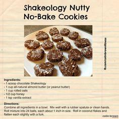 Shakeology Nutty No-Bake cookies
