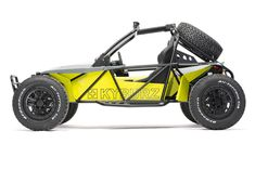 Electric powered Dune Buggy, emission-free curve-craving fun for passionate drivers, on and off road Go Kart Buggy, Off Road Buggy, Kart Cross, Karting, Go Kart Frame, Homemade Go Kart, Triumph Motorcycles, Go Kart Plans, Diy Go Kart