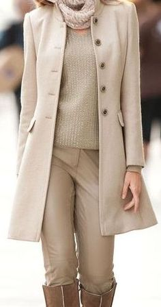 Neutral Tones. Choosing one color family for travel, then having lots of non bulky accents, like scarves, great way to keep packing on the light side.