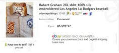 Robert Graham LA Dodgers shirt - $3 at thrift store, sold for $99.97