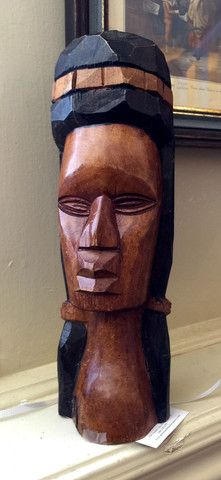 Greystone Fine Furniture - Vintage aboriginal native Indian head carving $45