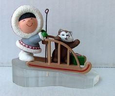 1989 Hallmark Keeepsake Frosty Friends Christmas Ornament Eskimo Dog Sled VGC | eBay
