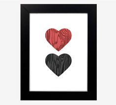 Jilly's 12 Days of Christmas #giveaway  Woodgrain Heart prints in pink