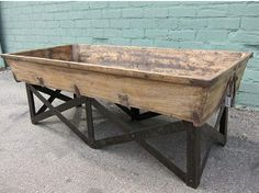 Just in time for Christmas, Reclaimed Manger Troughs! These make amazing planters indoors and out, or cover with glass for an unexpected shadow-box display coffee table. mix furniture.com // blog.mixfurniture.com
