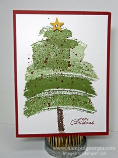DIY Christmas Card Idea with Work of Art Stamps . . . details on my blog!  www.stampingeorgia.com