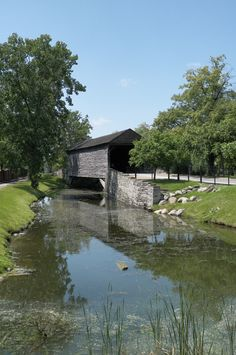 Ackley Covered Bridge at Greenfield Village in Dearborn, Michigan