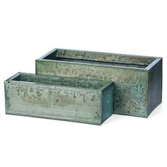 Steel Planters Rect Set Of 2 Sm, $19.90, now featured on Fab.