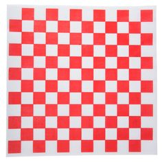 """Give your take out snacks or combo platters an attention-grabbing kick of color with this Choice 12"""" x 12"""" red check deli sandwich wrap paper. Grease resistant and microwavable, this 12"""" x 12"""" red check deli sandwich wrap paper is perfect for wrapping sandwiches, burgers, hot dogs, and bratwursts, or lining serving baskets. It features a fun, red and white checker pattern that's sure to complement any restaurant's personality. <br><br><b><u>Overall Dimensions:</b></u><br> Length: 12""""<br> Width: Checker Wallpaper, Food Wrapping Paper, Wrapping Papers, Baking Basket, Deli Sandwiches, Bakery Supplies, Basket Liners, Paper Basket, Decorating Tools"""