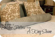 DIY bolster pillow