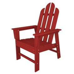 Polywood ECD16SR Long Island Dining Chair in Sunset Red