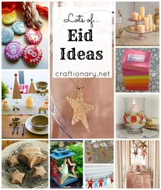 Lots of Eid crafts that you can do here to give your home that festive home made feel. - Bajou Studio