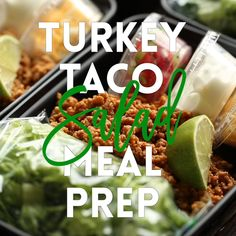 A much HEALTHIER take on Taco Tuesdays, except you are meal prepped for the entire week! Less calories and cheaper too!