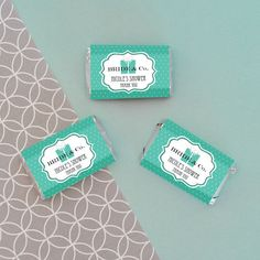 "Personalized ""Bride & Co"" Mini Candy Bar Wrappers - Unique Bridal Shower Favors"