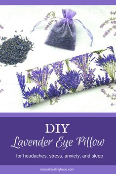 Learn how to make your own DIY Lavender Eye Pillow to help with headaches, stress, anxiety, sleep and more. They also make great gifts for friends and family. remedies baking soda remedies diy home remedies skin care remedies sore throat remedies treats Natural Home Remedies, Natural Healing, Herbal Remedies, Fun Craft, Craft Ideas, Natural Sleep, Angst, Diy Pillows, Aromatherapy