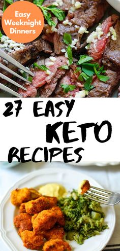 I've put together my favorite effortless and easy Keto recipes to make your Keto diet less boring without the work. The perfect dinners for busy weeknights! Low Carb Shrimp Recipes, Salad Recipes Low Carb, Low Carb Dinner Recipes, Keto Recipes, Chicken And Beef Recipe, Slow Cooker Chicken, Snacks To Make, Low Carb Meal Plan, Easy Weeknight Dinners