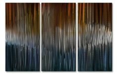 """Energize IV Contemporary painting on metal, wall Sculptures by Ash Carl, metal home decor by ASH CARL. $189.99. Corrosion Resistant Finish. Size: 23.5"""" T x 38 W. Hand Sanded Design. High Quality Welded Construction. Painted Steel. This 3 panel metal wall sculpture by artist Ash Carl will mesmerize you and your guests! The hand sanded finish on the metal creates a unique three-dimensional effect. As you pass by, the artwork seemingly """"moves"""" by reflecting any light ..."""