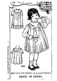 **FREE ViNTaGE DiGiTaL STaMPS**: Free Digital Stamp - Vintage Child's Dress Ad