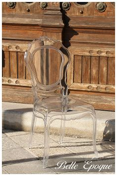 A lovely transparent polycarbonate italian chair in unconventional settings. All pictures were taken in Cividale del Friuli - ITALY
