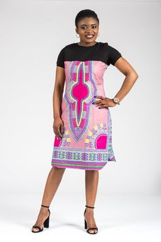 Soft and comfortable 100% cotton t-shirt Fabric 100% African wax Dashiki print fabric  Check www.bcbykasa.com for more styles  Care Instruction Hand wash cold. Use mild detergent. Do not bleach. Hang to dry. Iron if needed