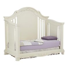 "Bassett Baby ""Addison"" crib in pearl white; available at BuyBuy Baby Home Decor Furniture, Dining Room Furniture, Baby Cribs, Pearl White, Color Schemes, Nursery, Living Room, Google Search, Bedroom"