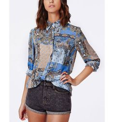 9277760e283 New Ladies  elegant ethnic paisley vintage floral print OL blouses turn  down collar long sleeve shirts casual slim brand tops Check it out!