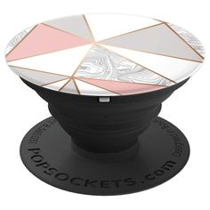 Pop Socket Marble Pink Grey White Rose Gold Geometric Design - PopSockets Grip and Stand for Phones and Tablets Rose Gold Marble, Rose Gold Pink, Pink Blue, Phone Accesories, Cell Phone Accessories, Popsocket Design, Cute Popsockets, Cell Phone Grip, Popsockets Phones