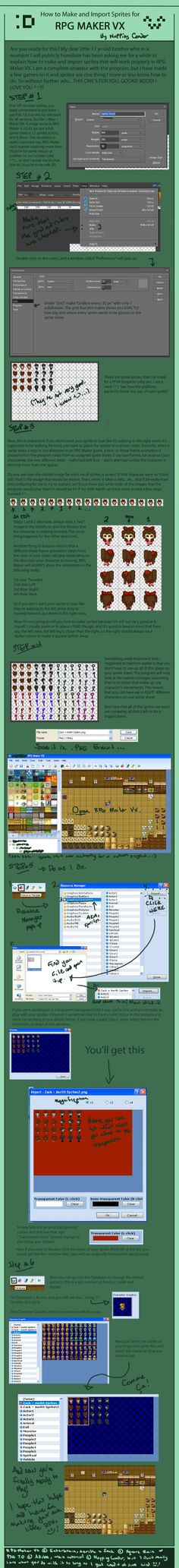 Rpg maker mv animation system getting started how to beginner sprite tutorial rpg maker vx by nappingcondor on deviantart sciox Choice Image
