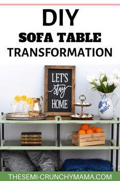 How to DIY a sofa table for an incredible transformation. Fixing up a sofa table with chalk paint and upscaling. #diyhomedecor #diyfurniture #sofatable #chalkpaint #chalkpaintfurniture #chalkpaintingfurniture #furniturediy #diyideas