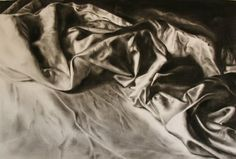 The effect in this image is very realistic, with the charcoal being used skillfully to create shadow and texture.