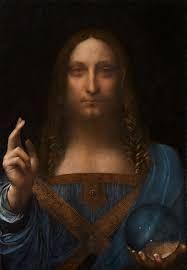 D M I D I A -  O SALVADOR MUNDI Salvator Mundi é uma pintura de Jesus Cristo como Salvator Mundi, que foi atribuída por alguns estudiosos como uma obra renascentista de autoria de Leonardo da Vinci desde sua redescoberta em 2005.wjmwilsonmoura www.dmidiacomunicacaovsual.com.br - Dmidia Comunicação Visual