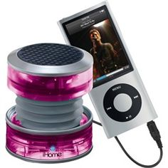 Pink Rechargeable Collapsible Portable Translucent Mini Speaker  iHome IHM60PT  NEW!