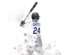 Ken Griffey Jr. Seattle Mariners art painting print by JGomezArt