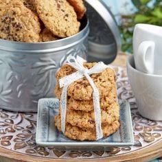 Havrekakor med choklad & kaffe Krispie Treats, Rice Krispies, Kaffe, Fika, Mocha, French Toast, Sweets, Snacks, Cookies