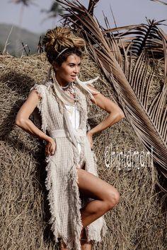#WartsOnHands Vest Coat, Goa, Moda Burning Man, Kaftan, Burning Man Fashion, Natural Clothing, Boho Clothing, India, Boho Outfits