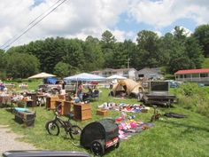 As you take this scenic route through North Carolina, you can expect to see sales in almost every yard, food trucks galore, and various events held in each of the small towns.