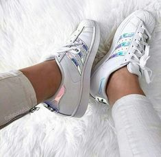 adidas super star with glowy staps- Adidas outfit ideas http://www.justtrendygirls.com/adidas-outfit-ideas/