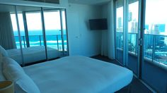Main Bedroom at the Hilton Surfers Paradise Hotel and Residences on the Gold Coast in Queensland, Australia Paradise Hotel, Queensland Australia, Surfers, Gold Coast, Family Travel, Maine, Bedroom, Blog, Family Trips