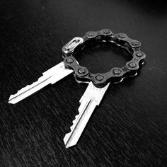 Bike Chain Key Ring - For more great pics, follow www.bikeengines.com