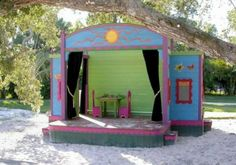 Bring out the little performer inside by creating your own backyard theatre! #ballerinabeth #theworkers #perform
