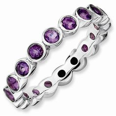 Stackable Expressions Amethyst Ring