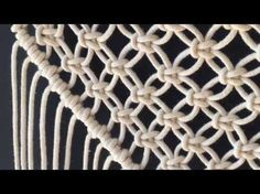 How to do macrame knots - DIAGONAL DOUBLE HALF HITCH - YouTube