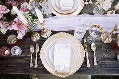 Ballet Inspired Wedding Table
