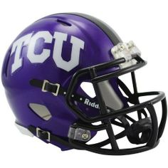 NCAA Texas Christian (TCU) Horned Frogs Speed Mini Helmet by Riddell. $23.95. The New Riddell Texas Christian (TCU) Horned Frogs Speed Replica Mini Helmet.