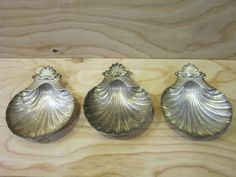 Set Of Three Bell Mark Silver Plated Clam Shell Dish by RainbowConnection15 on Etsy